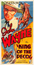 "Movie Posters:Western, King of the Pecos (Republic, 1936). Three Sheet (41"" X 79.5"").. ..."