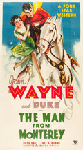 "Movie Posters:Western, The Man from Monterey (Warner Brothers - First National, 1933).Three Sheet (40.5"" X 75"").. ..."