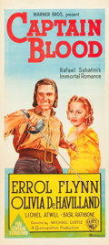 "Movie Posters:Adventure, Captain Blood (Warner Brothers, R-1944). War Era Australian Daybill(13"" X 30"").. ..."