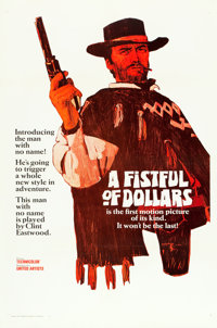 """A Fistful of Dollars (United Artists, 1967). One Sheet (27"""" X 41"""") Advance Style A"""