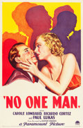 "Movie Posters:Drama, No One Man (Paramount, 1932). One Sheet (27"" X 41"") Style A.. ..."