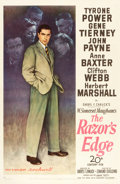"Movie Posters:Drama, The Razor's Edge (20th Century Fox, 1946). One Sheet (27"" X 41"")Style B.. ..."