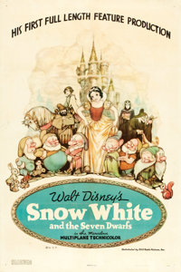 """Snow White and the Seven Dwarfs (RKO, 1937). One Sheet (27"""" X 41"""") Style B"""