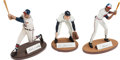 Baseball Collectibles:Others, Baseball Greats Signed Figurines Lot of 3....