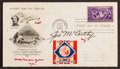 Baseball Collectibles:Others, 1939 New York Yankees Team Signed First Day Cover, With Gehrig -World Championship Season!...