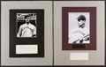 Baseball Collectibles:Others, Elmer Flick and Bill Wambsganss Signed Cut Signature Displays....