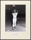 Baseball Collectibles:Others, Satchel Paige Signed Cut Signature Display....