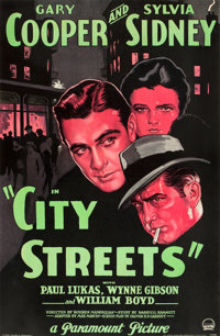 """City Streets (Paramount, 1931). Full- Bleed One Sheet (26"""" X 39.75"""") Style A"""