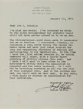 Autographs:Authors, Joseph Heller, American Writer. Typed Letter Signed. Very good....