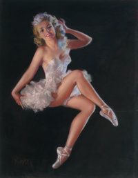 ZOE MOZERT (American, 1904-1993) The Ballerina Pastel on board 33 x 27 in. Signed lower left