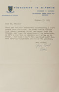 Autographs:Authors, Joyce Carol Oates, American Writer. Typed Letter Signed. Overallfine....