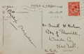 Autographs:Authors, E. Phillips Oppenheim, British Writer. Signed Postcard. Very good....