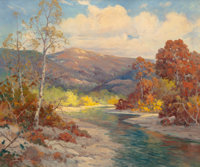 ROBERT WILLIAM WOOD (American, 1889-1979) Guadeloupe River Scene Oil on canvas 30 x 24 inches (76