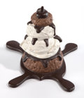 Post-War & Contemporary:Sculpture, CLAES OLDENBURG (American, b. 1929). Profiterole, 1989.Hand-painted cast aluminum. 6 x 8-1/8 x 8-5/8 inches (15.2 x 20....