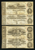 Confederate Notes:1863 Issues, Four Confederate April 6, 1863 Notes.. ... (Total: 4 notes)