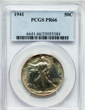 Proof Walking Liberty Half Dollars: , 1941 50C PR66 PCGS. PCGS Population (954/287). NGC Census:(939/471). Mintage: 15,412. Numismedia Wsl. Price for problem fr...