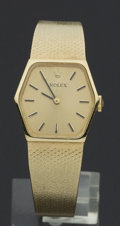 Timepieces:Wristwatch, Rolex Ref. 8370 Lady's Gold Wristwatch. ...