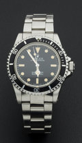 Timepieces:Wristwatch, Rolex Rare Ref. 5513/5512 Oyster Perpetual Submariner Feet First, circa 1985. ...