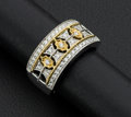 Estate Jewelry:Rings, Stricking 18k Two-Tone Diamond Ring. ...