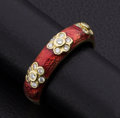 "Estate Jewelry:Rings, ""Hidalgo"" Diamond & Enamel 18k Gold Band. ..."