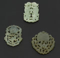 Estate Jewelry:Objects d'Art, Three Green Jade Carvings. ... (Total: 3 Items)