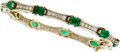 Estate Jewelry:Bracelets, Emerald, Diamond, Gold Bracelet. ...