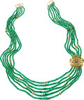 Estate Jewelry:Necklaces, Emerald, Andalusite, Gold Necklace. ...