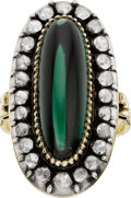 Estate Jewelry:Rings, Late Victorian Tourmaline, Diamond, Silver-Topped Gold Ring. ...