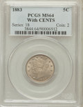 Liberty Nickels: , 1883 5C With Cents MS64 PCGS. PCGS Population (347/184). NGCCensus: (308/188). Mintage: 16,032,983. Numismedia Wsl. Price ...