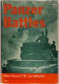 Books:World History, Major General F. W. von Mellenthin. Panzer Battles. A Study of the Employment of Armor in the Second World War. ...
