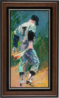Baseball Collectibles:Others, 1965 Mickey Mantle Original Painting by LeRoy Neiman....