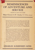 Books:Biography & Memoir, Major-General A. W. Greely. Reminiscences of Adventure andService. A Record of Sixty-Five Years. Charles Scribn...