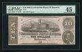 Confederate Notes:1862 Issues, Fully Framed T52 $10 1862.. ...