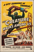 "Movie Posters:Horror, The Creature Walks Among Us (Universal International, 1956). OneSheet (27"" X 41""). Horror.. ..."