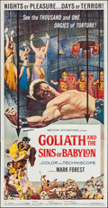 "Movie Posters:Adventure, Goliath and the Sins of Babylon (American International, 1964).Three Sheet (41"" X 79""). Adventure.. ..."