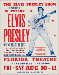 "The Elvis Presley Show (Hatch Show Print Co., 1984). Reprint Concert Poster (22"" X 28""). Elvis Presley"