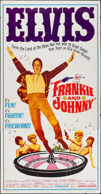 "Frankie and Johnny (United Artists, 1966). Three Sheet (41"" X 79""). Elvis Presley"