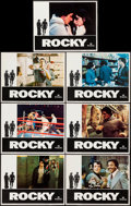 "Movie Posters:Academy Award Winners, Rocky (United Artists, 1977). Lobby Cards (7) (11"" X 14""). AcademyAward Winners.. ... (Total: 7 Items)"