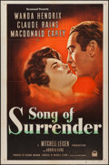 "Movie Posters:Drama, Song of Surrender (Paramount, 1949). One Sheet (27"" X 41""). Drama....."