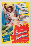 "Movie Posters:Exploitation, Unmarried Mothers (President Films, 1956). One Sheet (27"" X 41"").Exploitation.. ..."