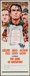 "Movie Posters:War, The Guns of Navarone (Columbia, 1961). Insert (14"" X 36""). War....."