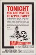 "Movie Posters:Exploitation, Hallucination Generation (Trans American, 1967). One Sheet (27"" X41""). Exploitation.. ..."