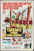 """Movie Posters:Adventure, Tarzan's Three Challenges (MGM, 1963). One Sheet (27"""" X 41"""") andColor Photos (3) (8"""" X 10""""). Adventure.. ... (Total: 4 Items)"""