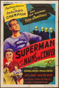 """Movie Posters:Action, Superman and the Mole Men (Lippert, 1951). French Affiche (31.5"""" X 47""""). Action.. ..."""
