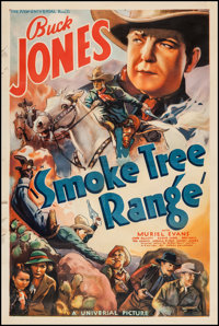 "Smoke Tree Range (Universal, 1937). One Sheet (27"" X 41""). Western"