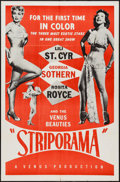 "Movie Posters:Sexploitation, Striporama (Fine Arts, 1953). One Sheet (27"" X 41"").Sexploitation.. ..."
