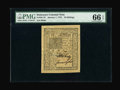 Colonial Notes:Delaware, Delaware January 1, 1776 10s PMG Gem Uncirculated 66 EPQ....