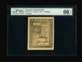 Colonial Notes:Delaware, Delaware January 1, 1776 4s PMG Gem Uncirculated 66 EPQ....
