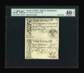 Colonial Notes:South Carolina, An Uncut Pair South Carolina April 10, 1778 2s/6d and 5s PMG Extremely Fine 40 EPQ....