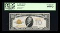 Small Size:Gold Certificates, Fr. 2400 $10 1928 Gold Certificate. PCGS Very Choice New 64PPQ.. ...